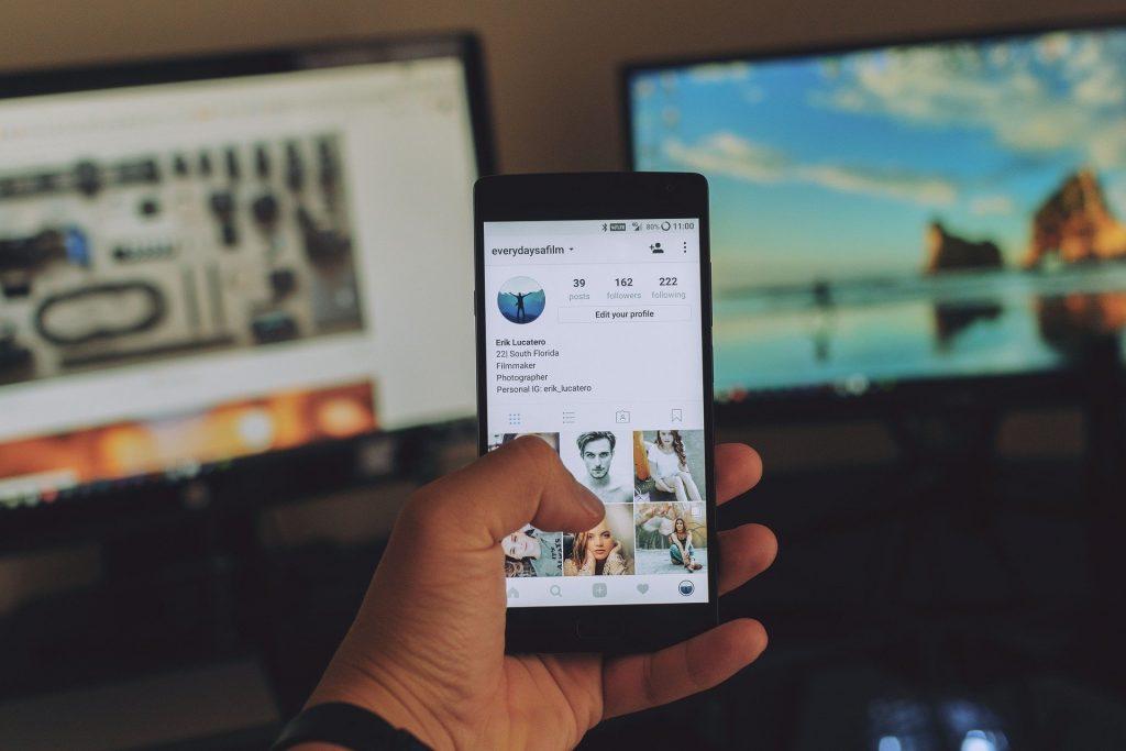 Scrolling through social media
